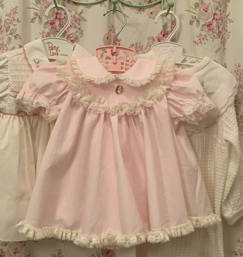 Baby Dress Vintage Lace 12 Months Pink Bryan Spring Easter Bryan In 2020 Baby Dress Dresses Fashion