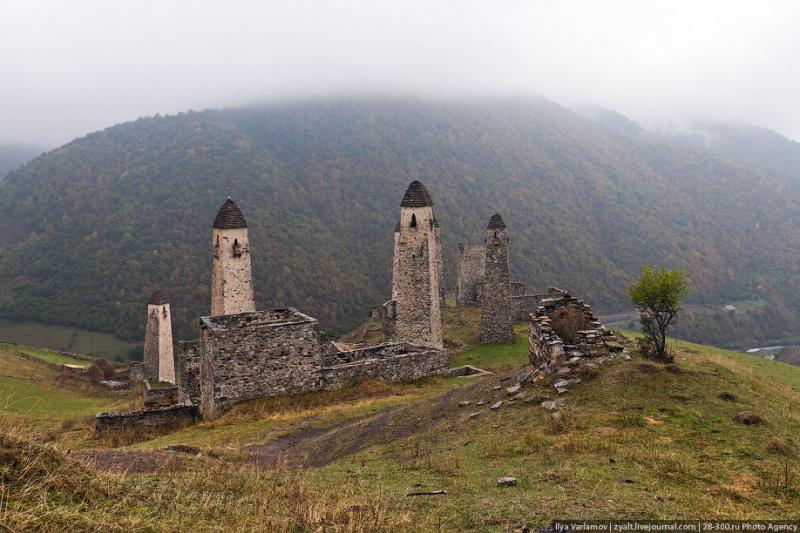 Ингушетия, родовые башни   VeniVidi.ru   Башня, Ландшафт ...