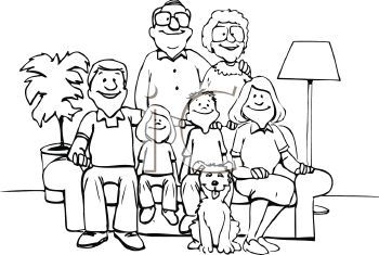 Clip Art Family Of A Family Posed For A Picture Royalty Free Clip Art Image Family Coloring Pages Family Drawing Family Clipart