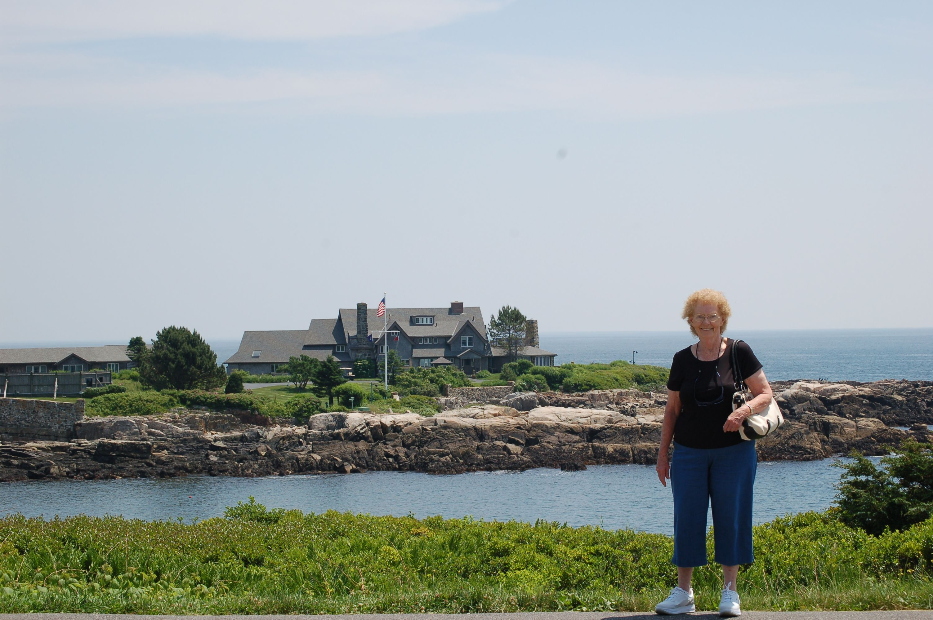 Mom In Front Of The Bush Compound In Kennebunkport Kennebunkport Couple Photos Photo