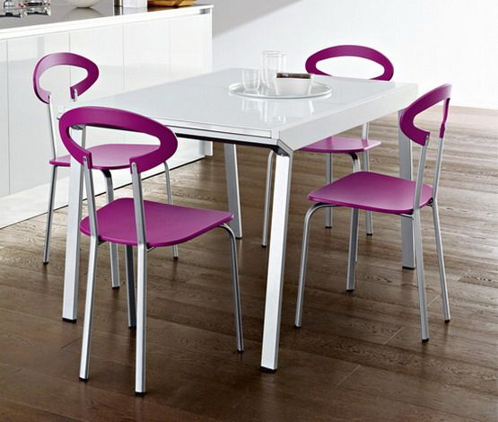 modern purple small kitchen table sets Kitchen and Dining Room
