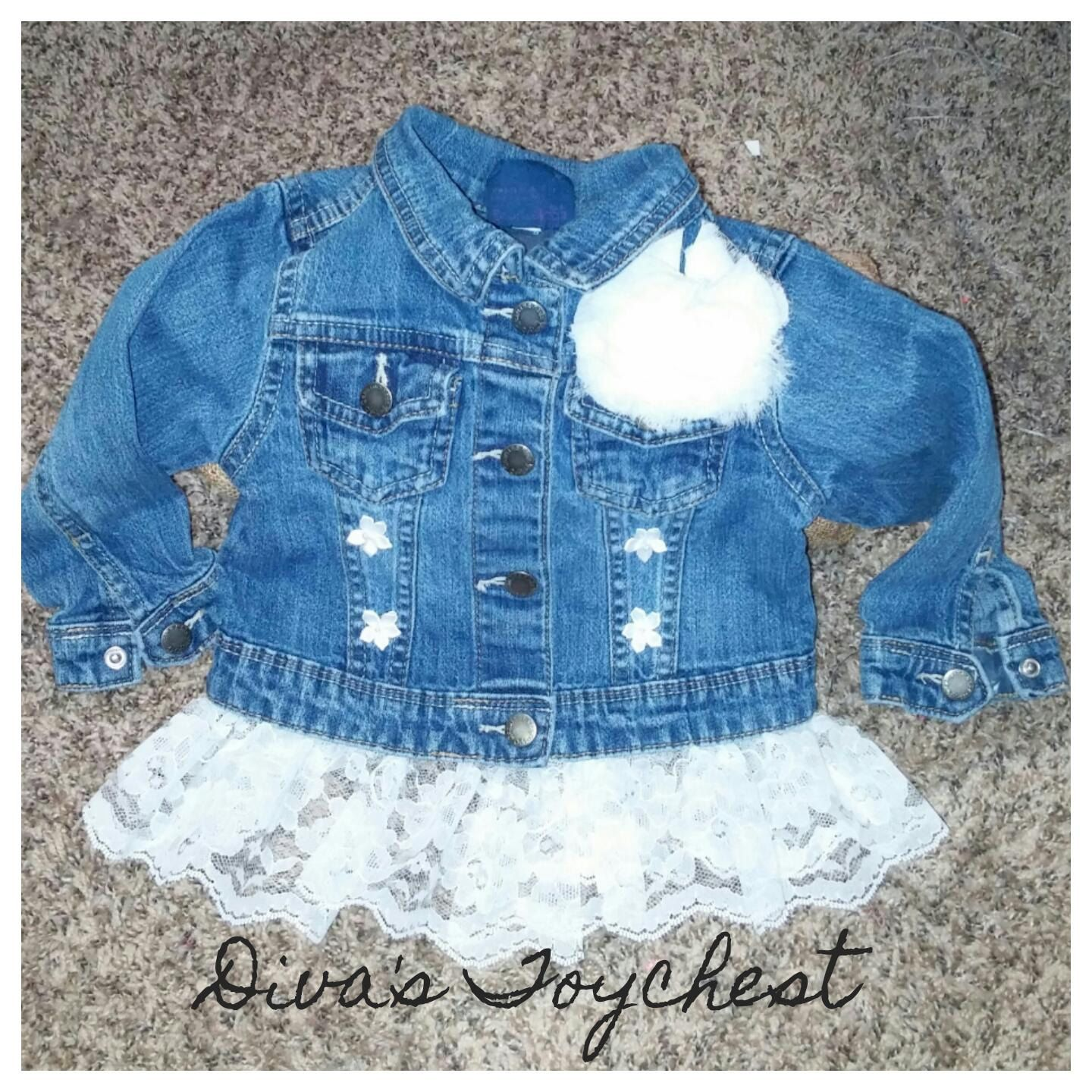 6c49b1384f0a Girls 2T Jean Jacket-one of a kind-upcycled denim- 29.99 by Diva s ...