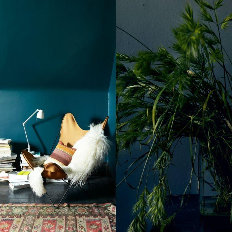 Petrol Wandfarbe Schlafzimmer: Wandfarbe Petrol, Ihre Wirkung Und Ideen Für