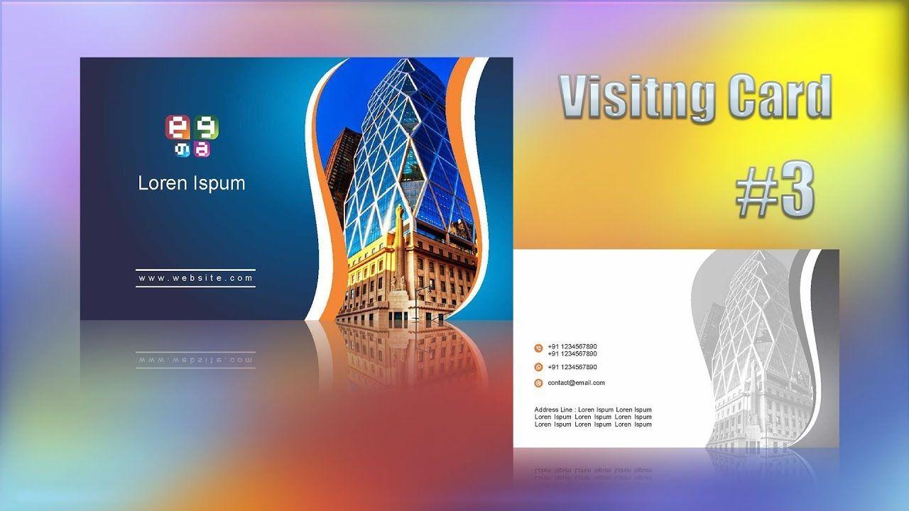 visiting card design in corel x7 coreldraw tutorials for