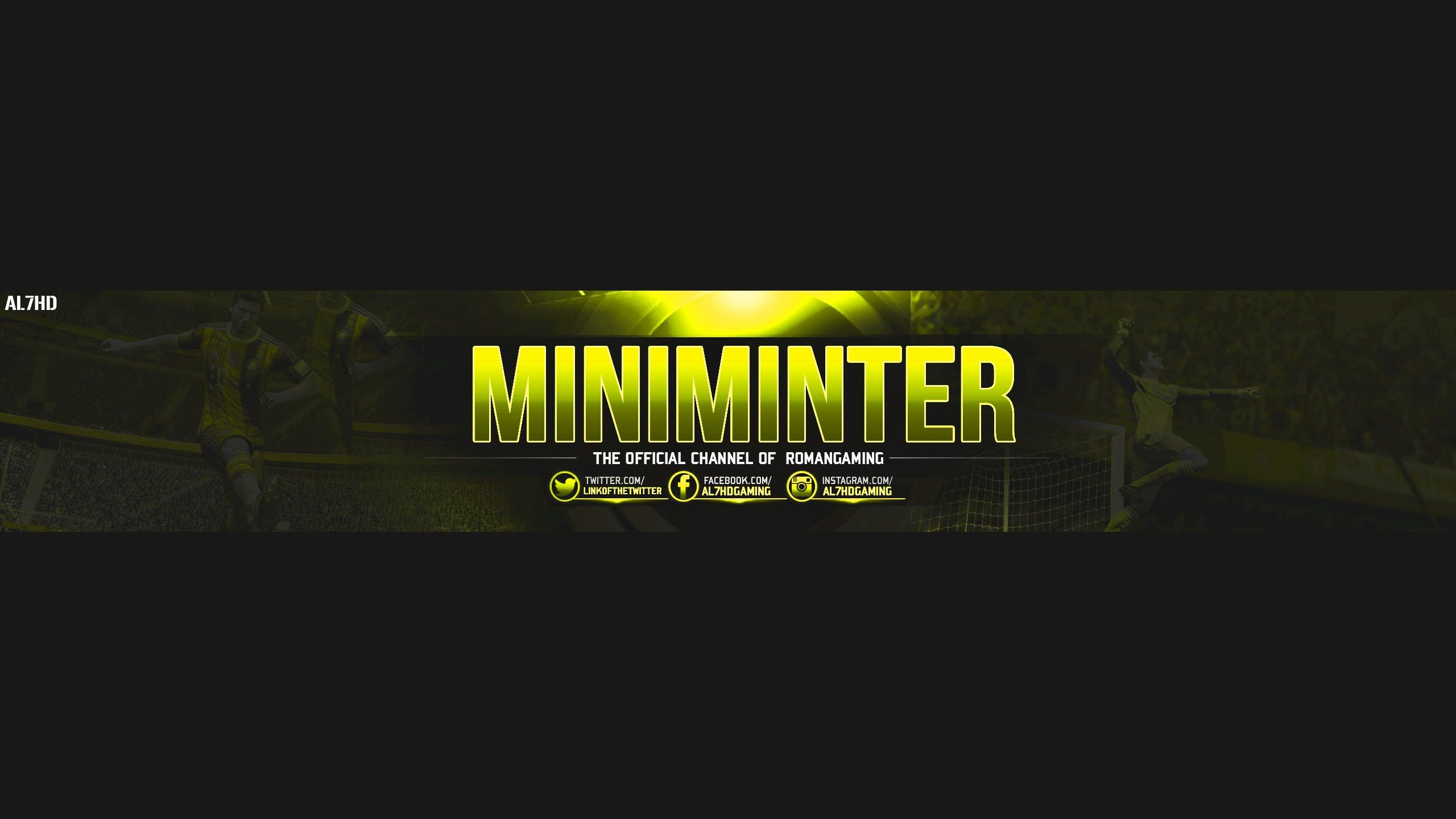 Free Gfx Gaming Youtube Banner Template Free Psd File Miniminter7 Youtube Banner Template Banner Template Diy Banner Template