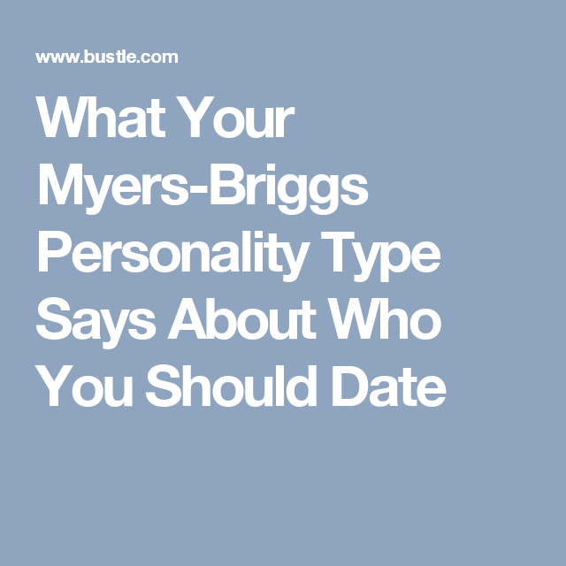 Personality type dating website