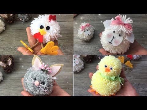 47acb891395 Easy DIY with POMPON !!! Tutorial facilissimo how to make animals with  pompon - YouTube
