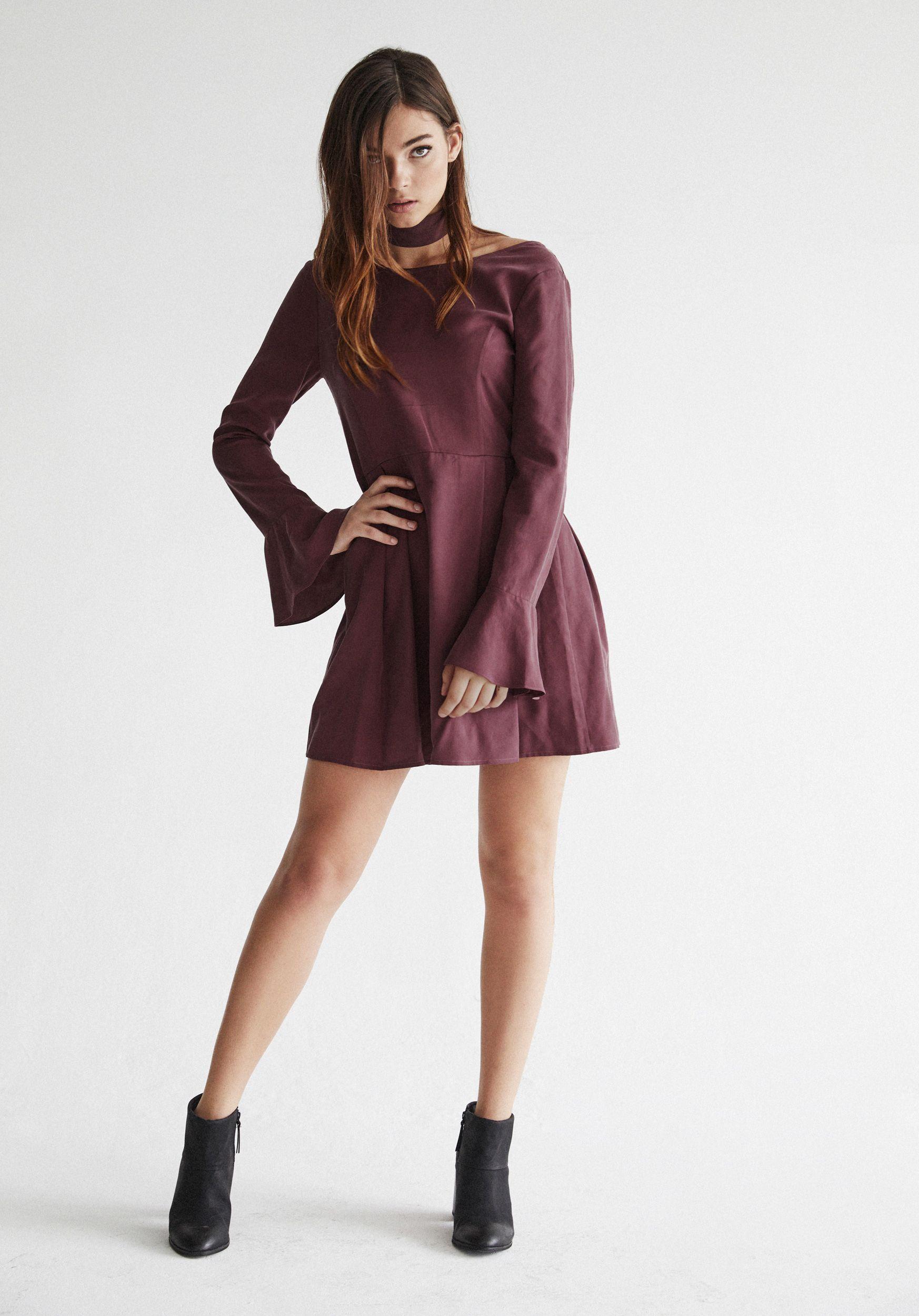 83603758b6b VETTA Convertible Bell Sleeve Dress