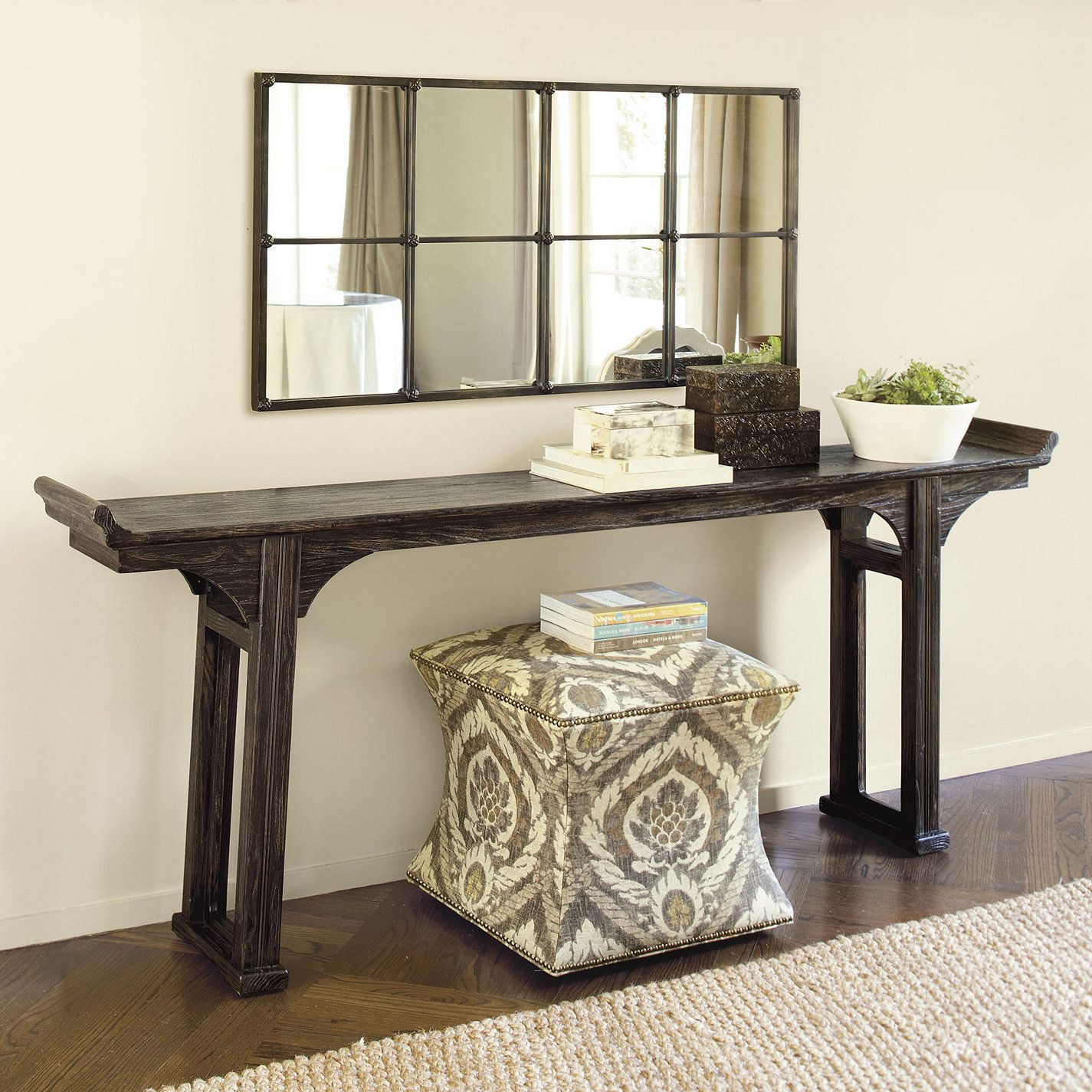 Ananda Serving Table Rustic Black Serving Table Wood Serving Table Long Sofa Table Family Room Design Sofa Table Decor