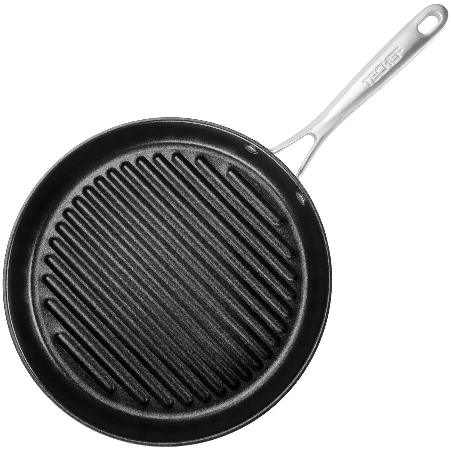 Amazon Com Techef Onyx Collection 12 Inch Grill Pan Coated With New Teflon Grill Pan Indoor Grill Pan Best Grill Pan
