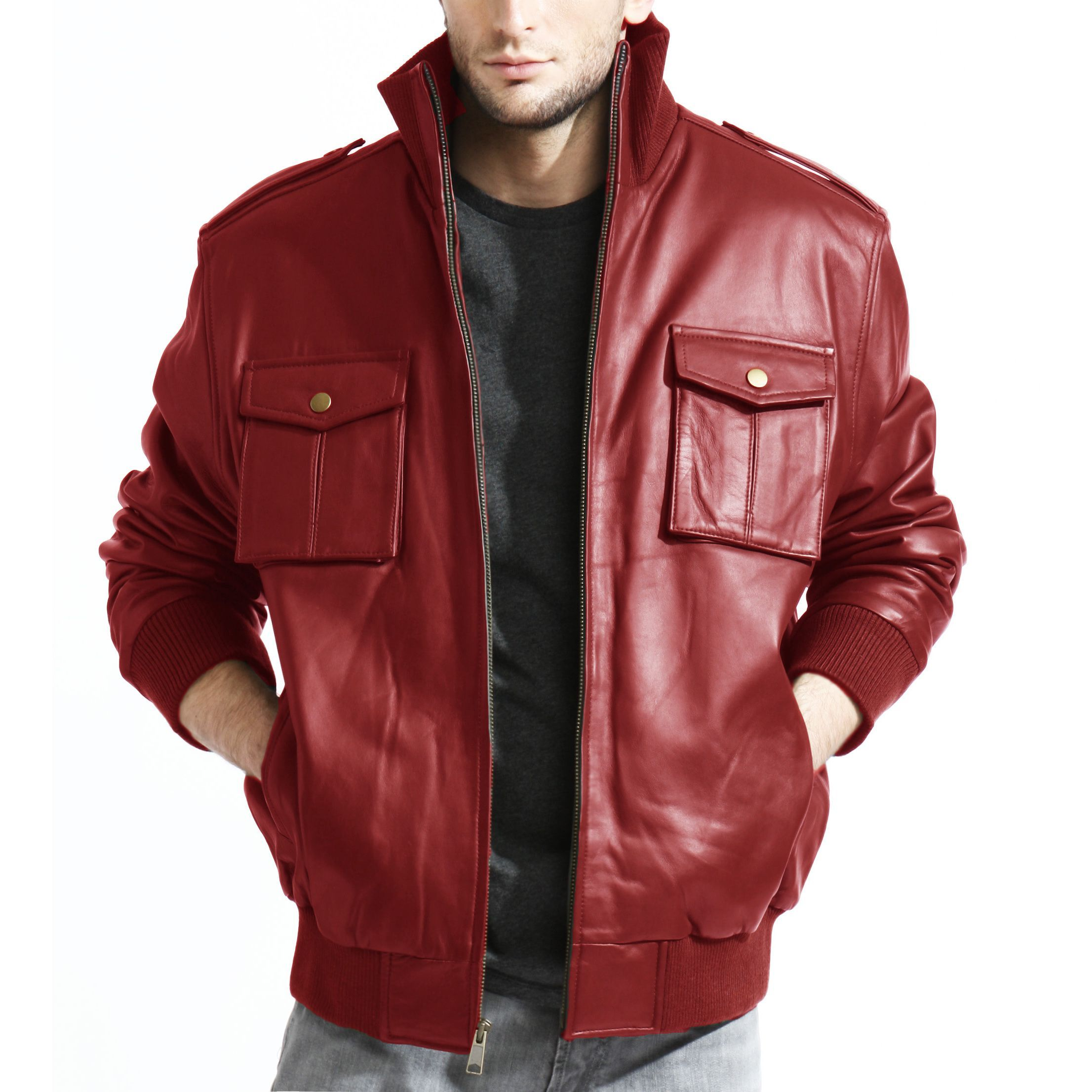 Overstock Com Online Shopping Bedding Furniture Electronics Jewelry Clothing More Red Bomber Jacket Men Leather Bomber Jacket Pocket Bomber Jacket [ 2212 x 2212 Pixel ]