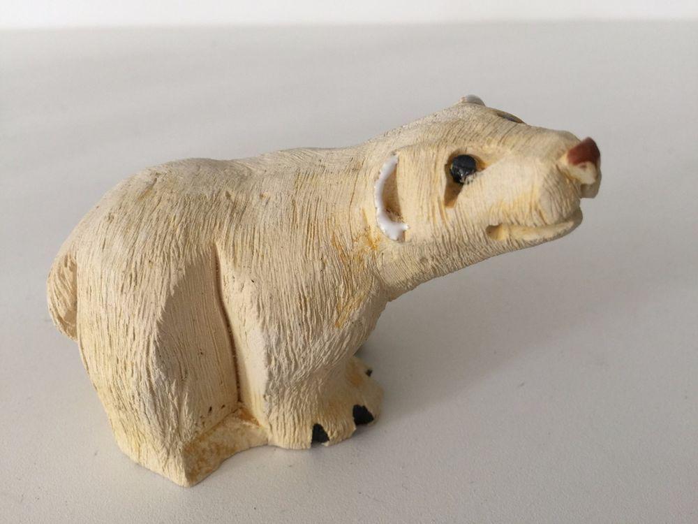 "Vintage Artesania Rinconada Polar Bear Figurine, 4"" Long x 2 1/2"" High x 2"" Wide"