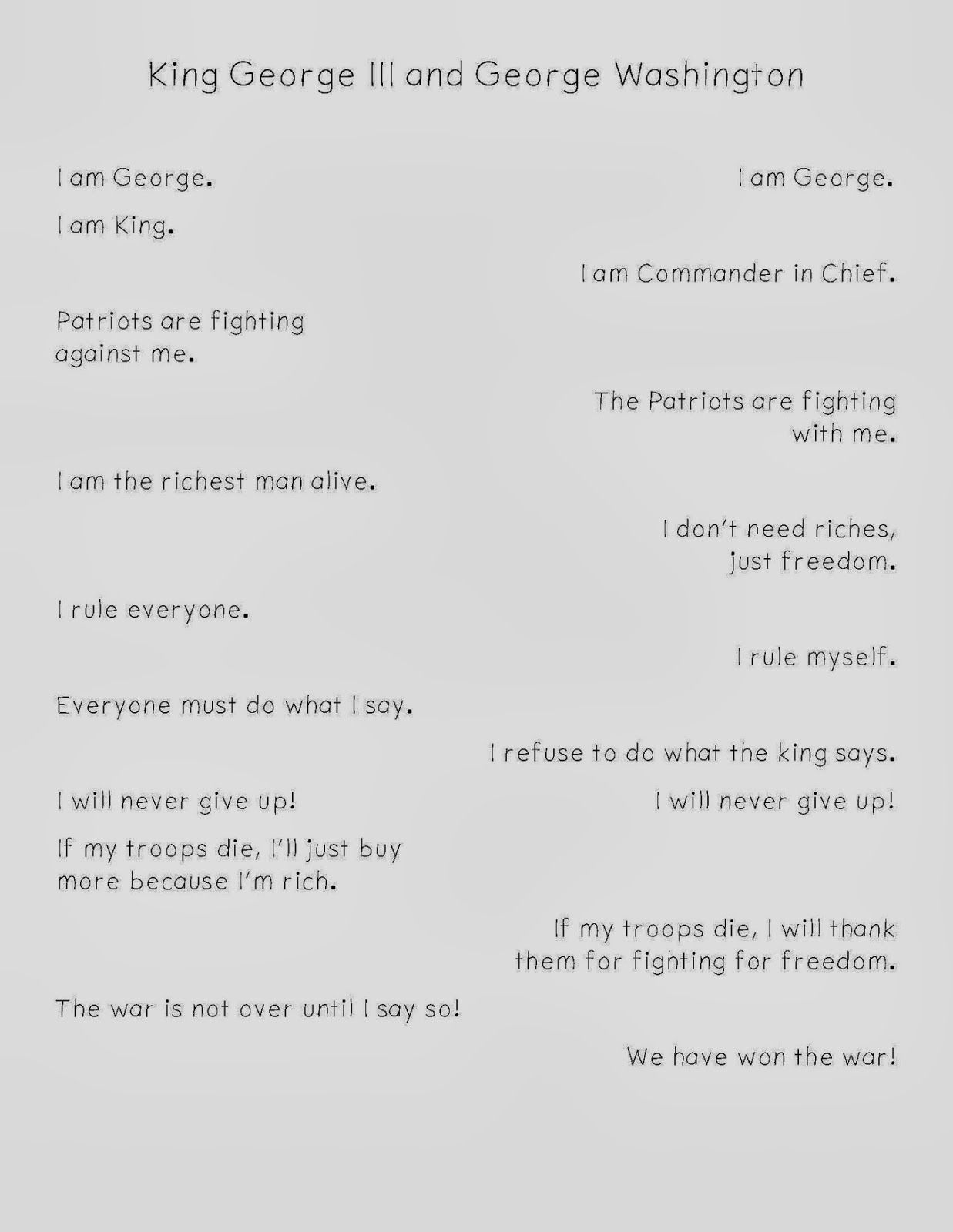 Two Voice Poems