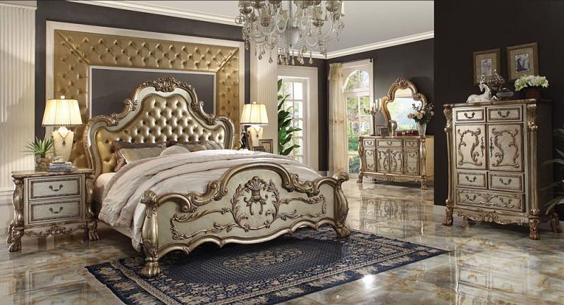 Elegant Luxurious Glamorous Champagne Bedroom Luxury Bedroom Furniture Bedroom Sets