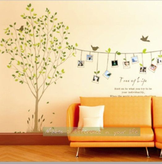 Photo,Photo Frame, Tree, Green Tree, Wall Decal, wall decor,Wall ...