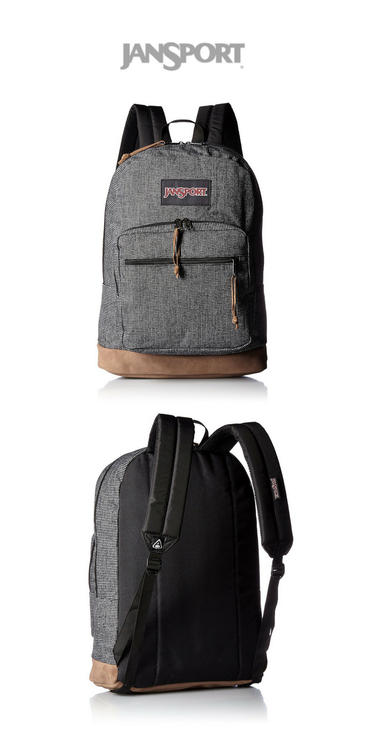 JanSport - Right Pack Backpack   Digital Edition   Grey Houndstooth   Click  for Price and More   Backpack Ideas   Backpack Styles   Backpac… adabd1a250