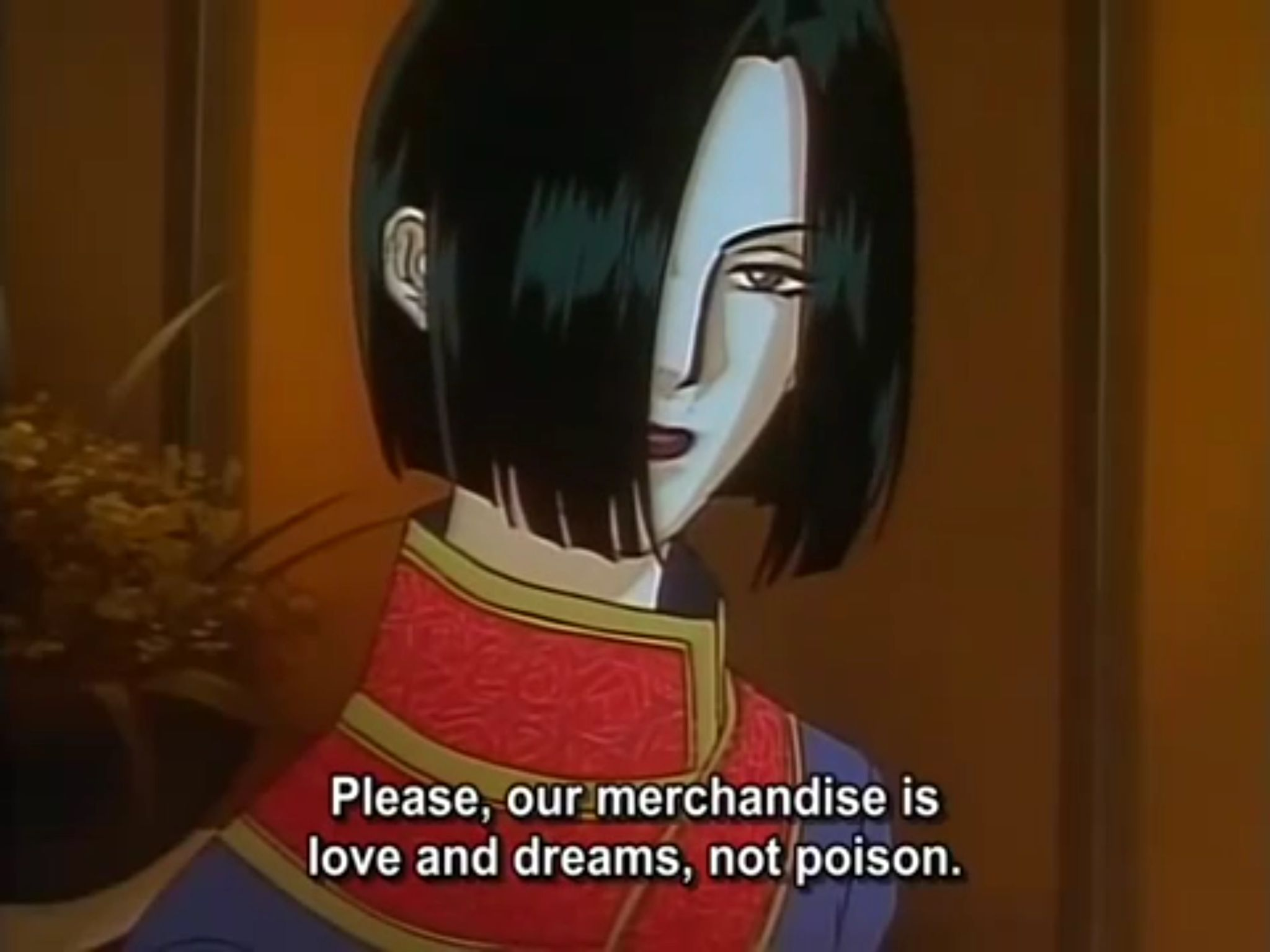 The best line in an anime EVER Pet shop of horrors Pet