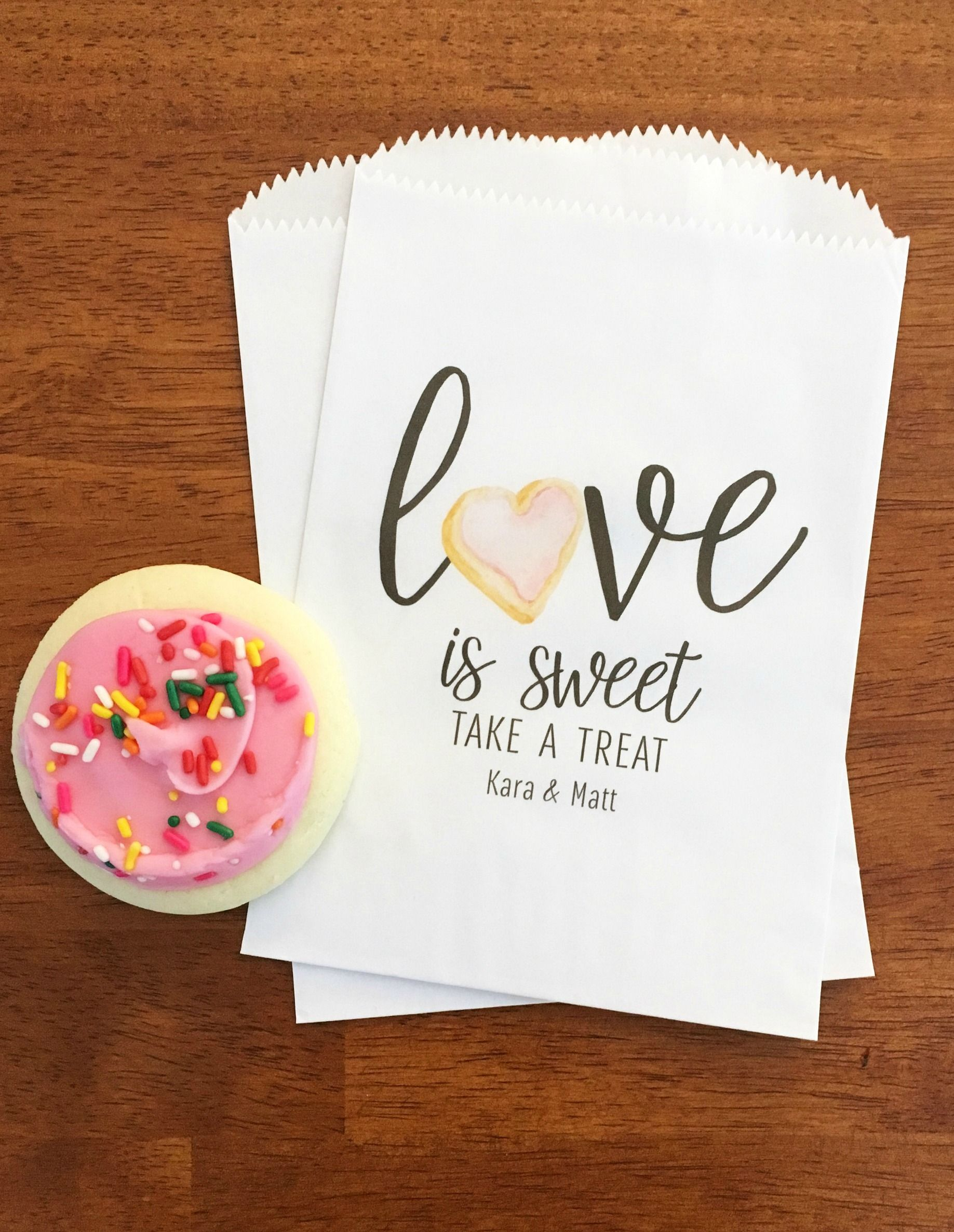 Perfect Wedding Cookie Bags Your
