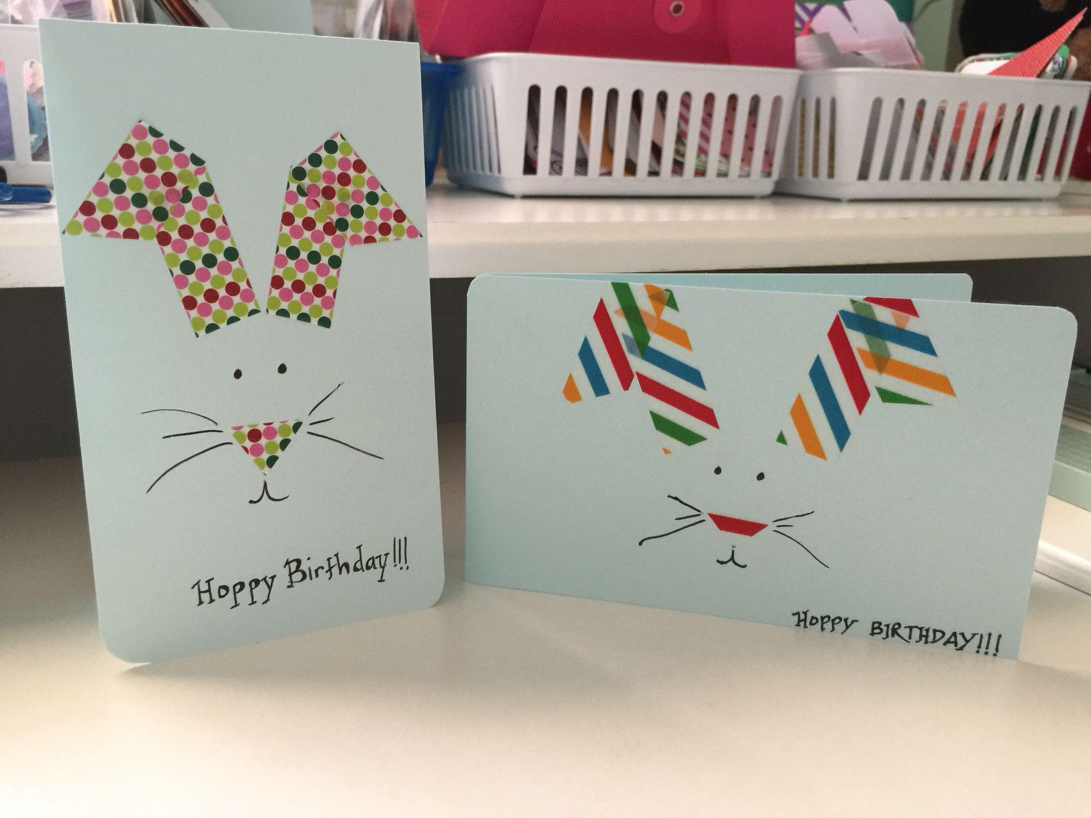 Happy Birthday Cards Diy Cards Washi Tape Scrap Diy Cards