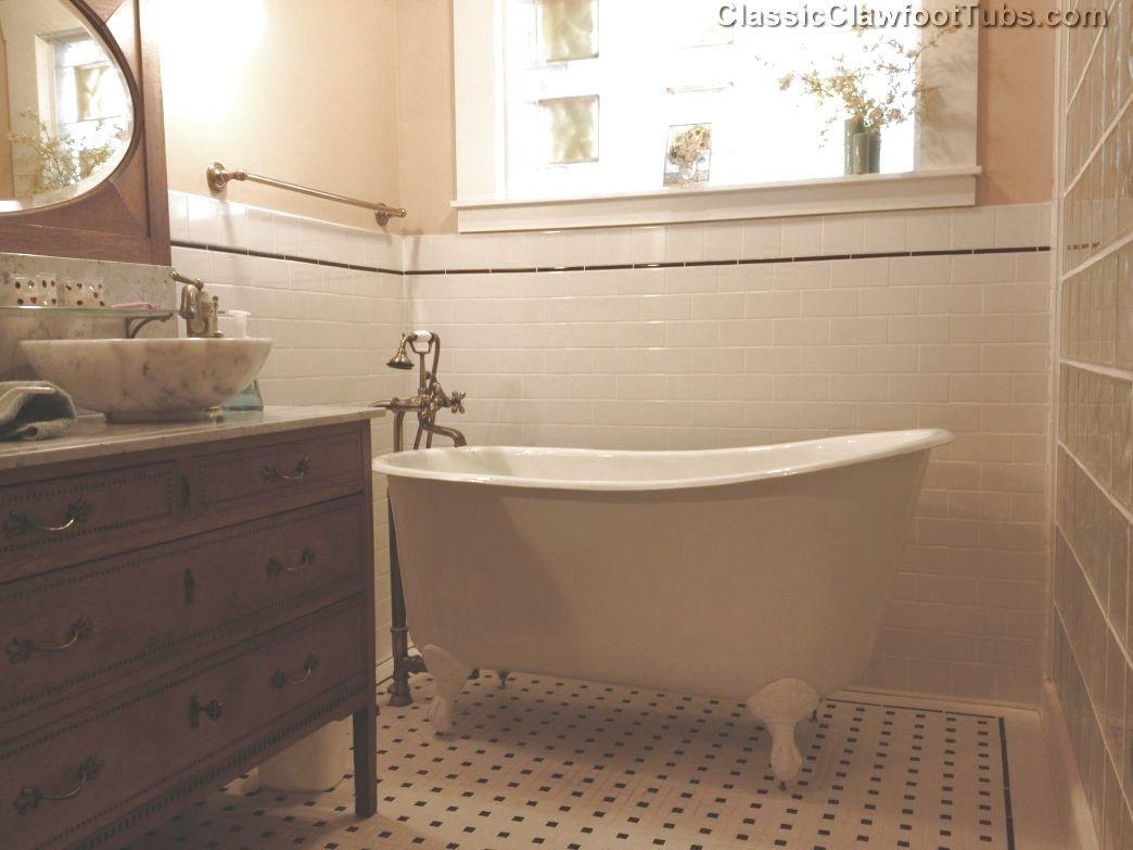 Modern claw foot bath tub