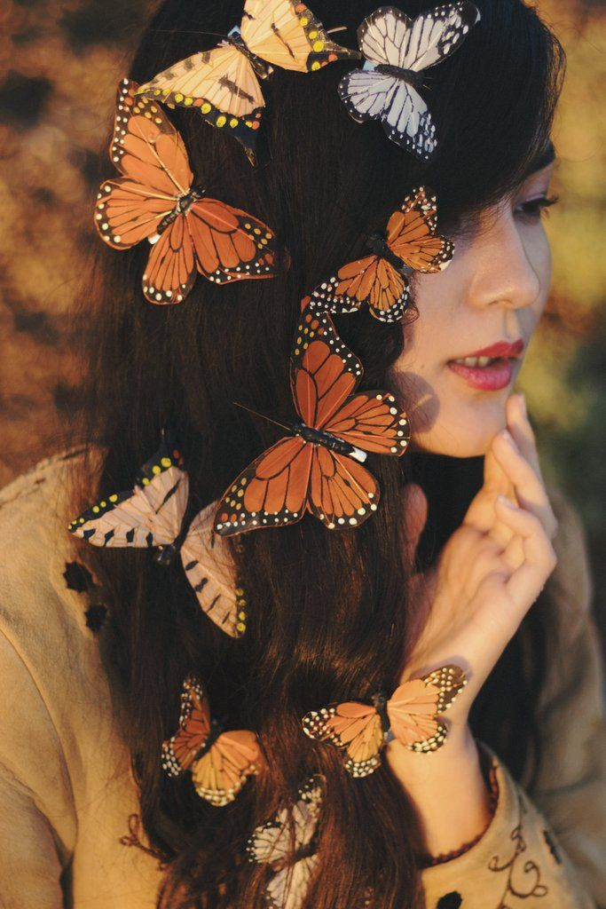 Idea by Kaylin Sypherd on Awesome Finds Butterfly hair