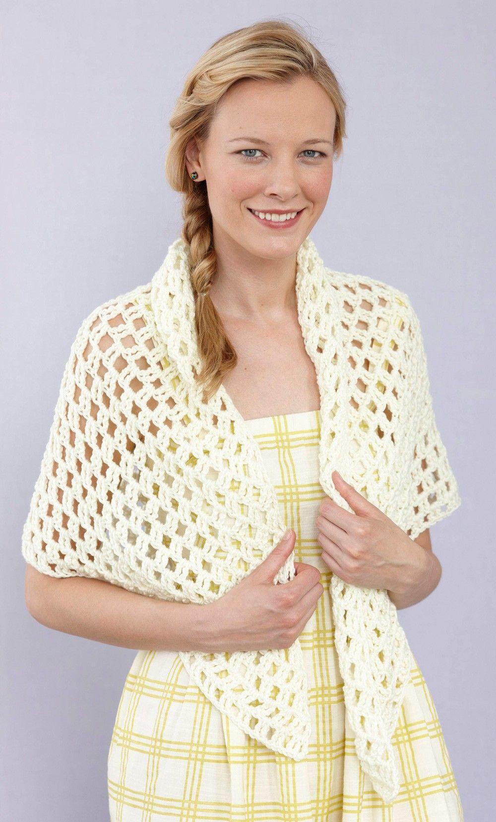 Modern Lace Shawl (Crochet)