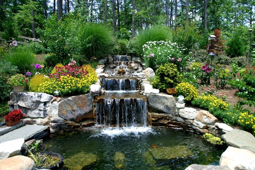 Flowers And Waterfalls