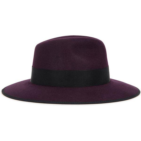 0e16727c81962 Christys  Hats Madison dark purple wool felt fedora ( 86) ❤ liked on  Polyvore featuring accessories