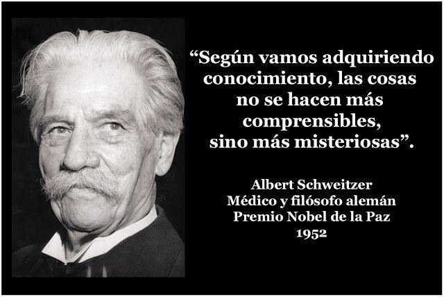 Dios Y La Ciencia Todo Es Cada Vez Más Misterioso Albert Schweitzer Frase De Fe Dios Verdades De La Vida