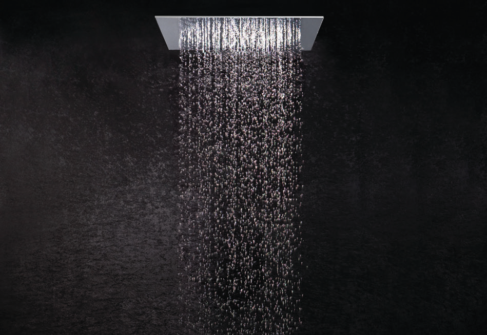 Wash in total bliss in this unique and ethereal shower design.    Smart Shower systems with integrated panel-touch feature and multi-functional operations including light and sound control. Sanitary Solutions By Hafele