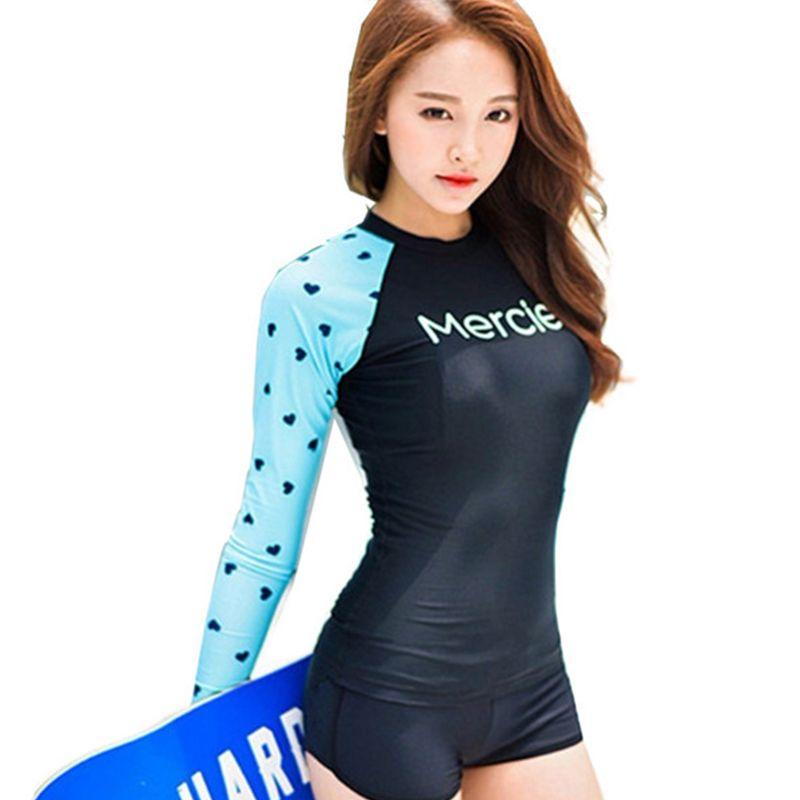 79b271e50d23 comprar Prendas térmicas mujeres surf rashguard traje de baño de ...