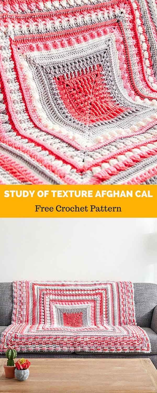 Study of Texture Afghan CAL [ FREE CROCHET PATTERN | Afghan Crochet ...