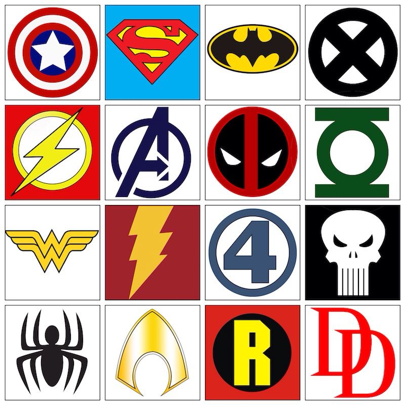 super hero symbols these are great for fun play parties costumes posters etc super. Black Bedroom Furniture Sets. Home Design Ideas