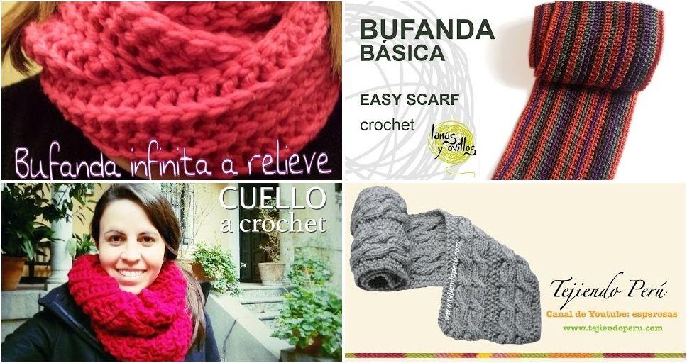 7 tutoriales para tejer una bufanda bien calentita | Manualidades ...