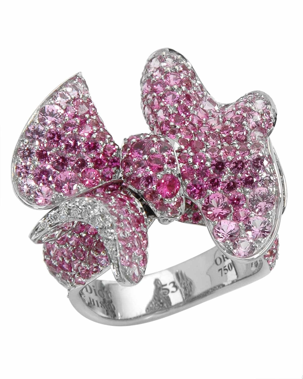 CHRISTIAN DIOR Made In France Ring Designed In 18K White Gold