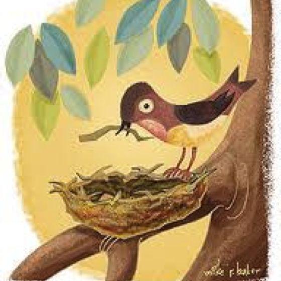 Bird Building Her Nest Illustration By Mary Blair Mary Blair