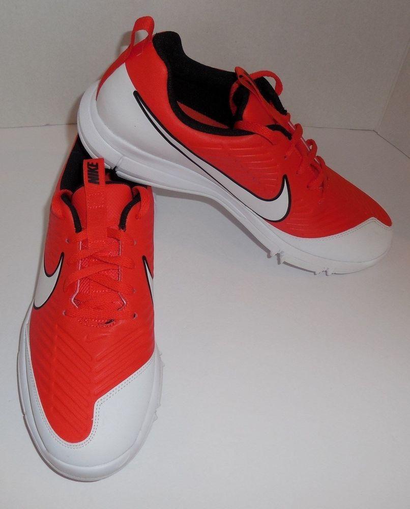 92f751beaa98 Nike Explorer 2 Mens Size 9 Golf Shoes Max Orange White Black New  849957-800 #Nike