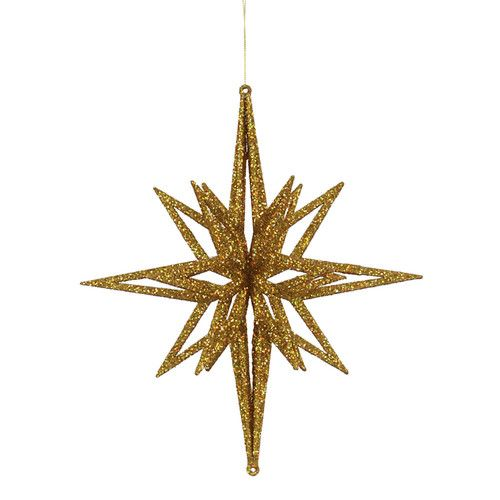 3d Glitter Star Ornament Star Ornament Christmas Ornaments