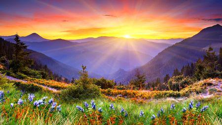 Landscape Desktop Nexus Wallpapers Sunrise Wallpaper Mountain Landscape Sunrise Photos