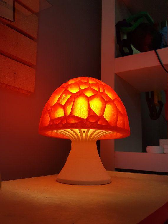Mushroom Lamp 3d Printed Hippy Lava Table Lamp Mushroom Lamp Hippy Room Beautiful Lamp