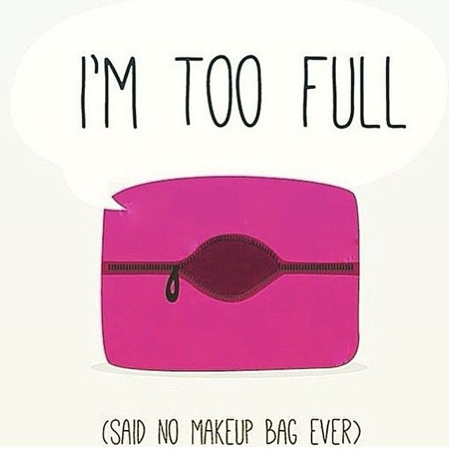 This is why we always need more than one makeup bag! <3