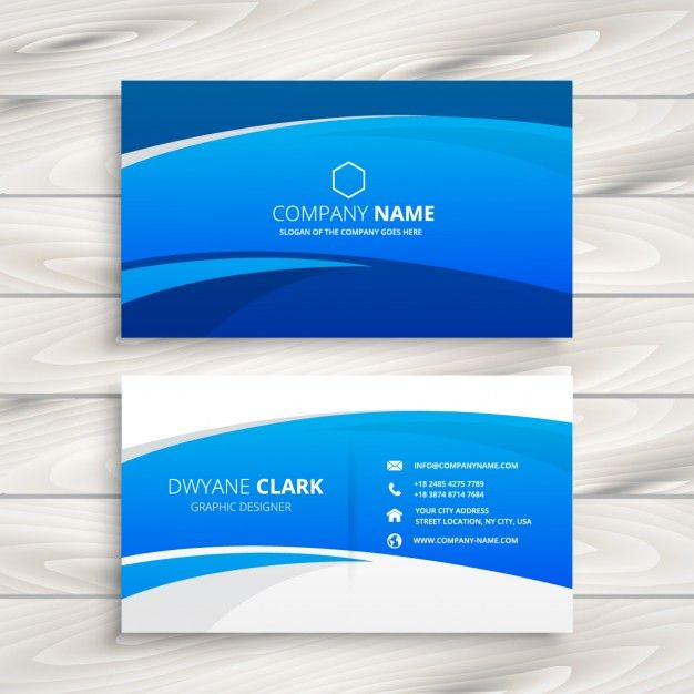 Download Blue Wave Business Card For Free Vector Business Card Business Cards Vector Templates Visiting Cards