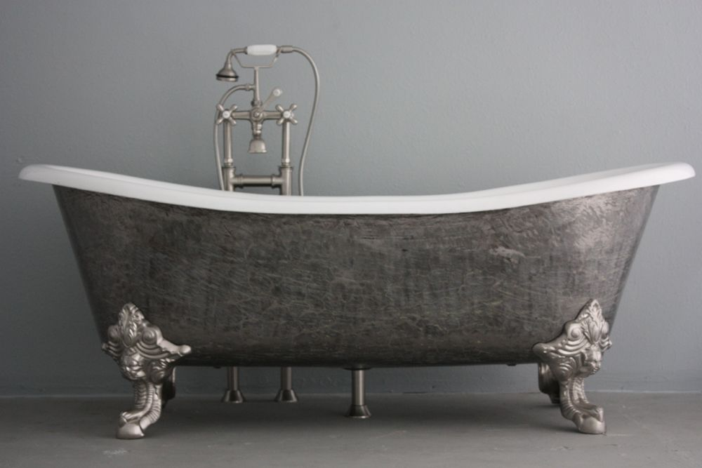 vintage bathtub | grey | bathtub, tub, bath