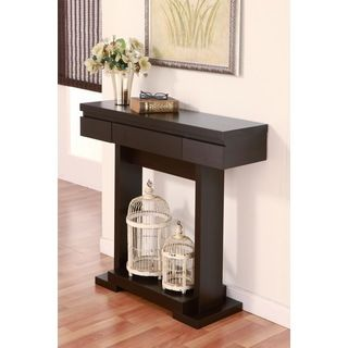 Furniture of america modern treasure black finish console for Modern furniture deals