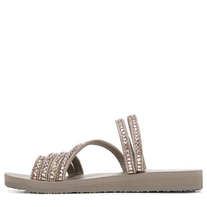 Skechers Women's Meditation Glam Flash Sandals (Taupe