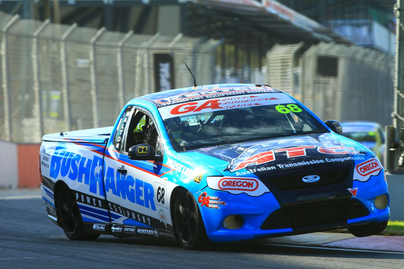 Aussie V8 Ute racing.  #RGS,#GAPowerEquipmentSpares,#PowerupLawnCare,#Bushranger,#Hustler,#Oregon,#Craftsman,#BigDog,#BillyGoat,#TrailBlazer,#DiamondEdge,#Atex, #OleoMac,#Ryan,#Maruyama,#Vortex,#ATC,#Rentco, http://rgsracing.com.au/
