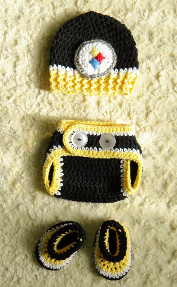 Handmade Pittsburgh Steelers Football Baby by OhSoVeryKnotty 1cb4d32af