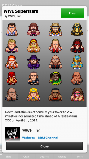 Get The WWE Sticker Pack For Free Now!