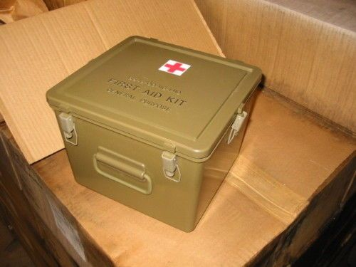 Details about 11x11x8 EPC Military GP First Aid Kit Hard Plastic