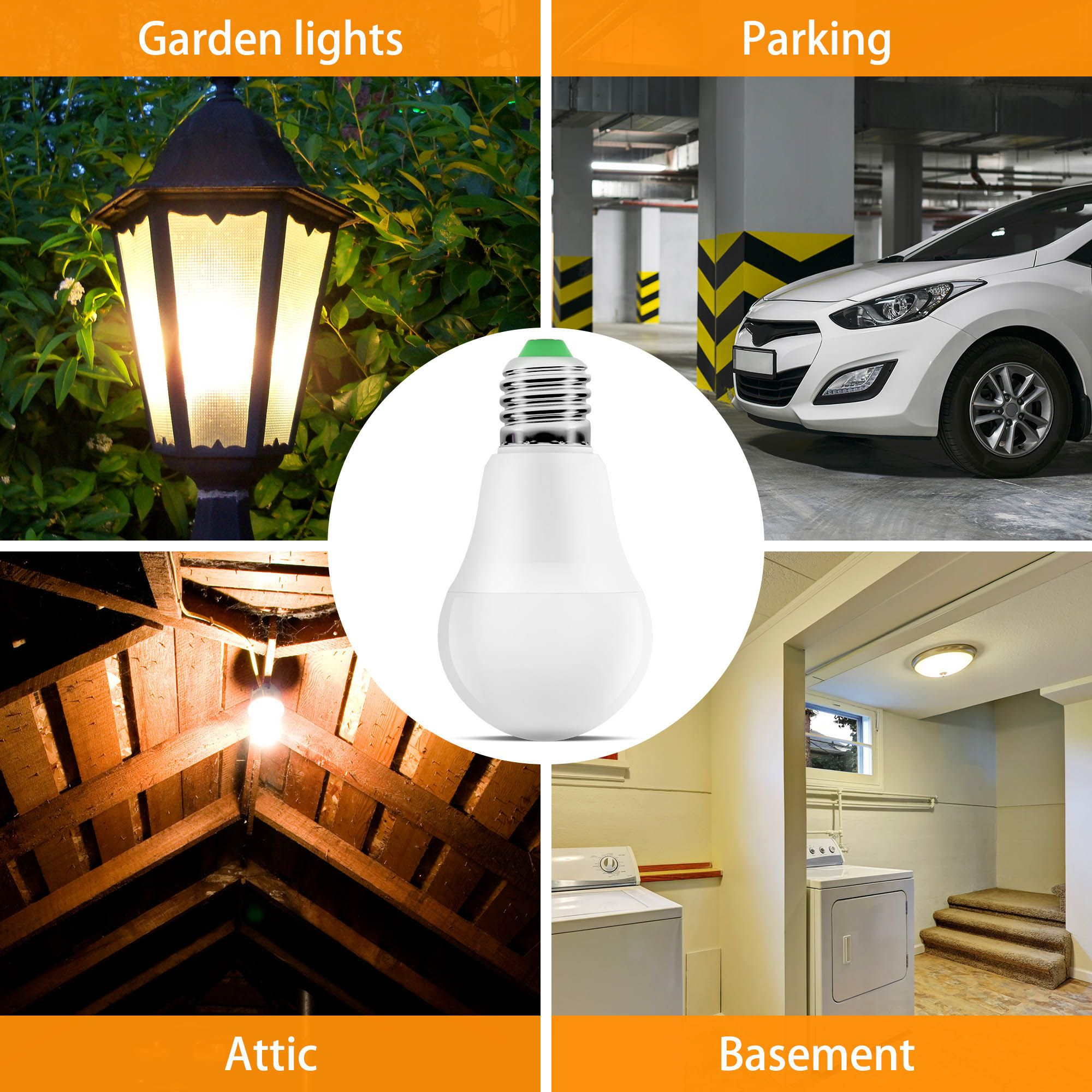 Motion Sensor Light Outdoor 630lm 7w 60w Equivalent The Radar Motion Sensor Bulb Very Sensitive And Re With Images Motion Sensor Lights Outdoor Motion Sensor Lights Bulb